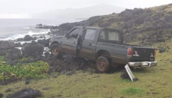 Easter Island Moai Statue Destroyed By Truck