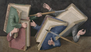 I Can't Look Away From These Delirious Paintings Of Anthropomorphized Books