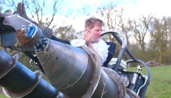 YouTuber Tests Out A Homemade Screw Tank And Gets Himself Completely Covered In Mud
