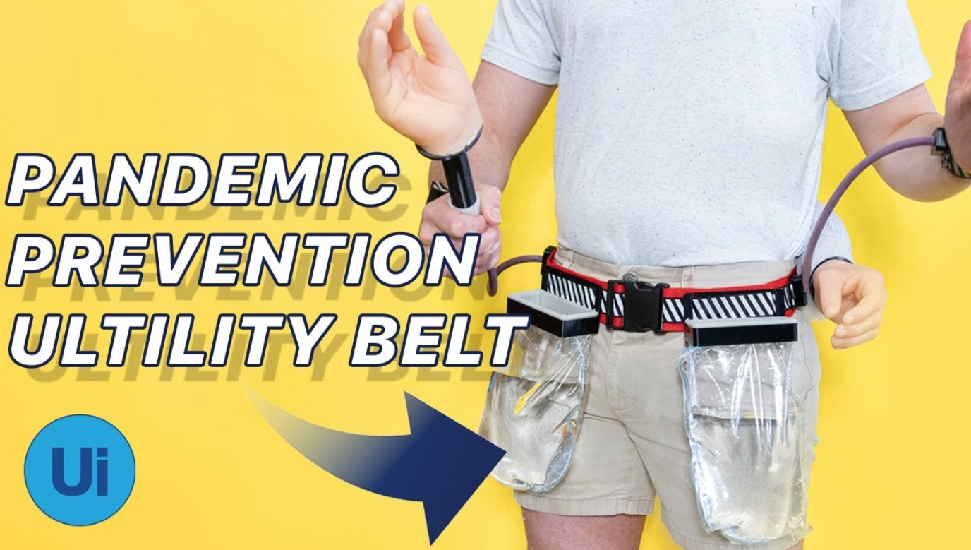 YouTuber Invents Utility Belt For Avoiding The Coronavirus That Follows All Of The CDC Guidelines