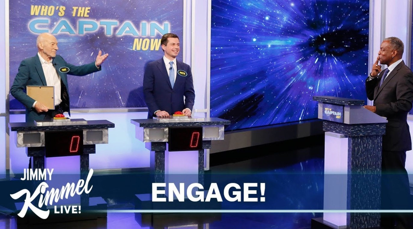 Patrick Stewart Faces Off With Pete Buttigieg Over 'Star Trek' Trivia