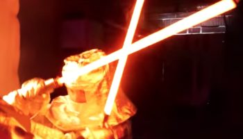 YouTubers Build Two 2,752-Degree Lightsabers, Duel Each Other