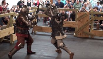 Two Guys Face Off In Armored, Full-Contact Medieval Axe Fight, And It's Absolutely Brutal