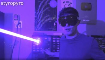 YouTuber Builds The World's Most Powerful Handheld Laser Pointer