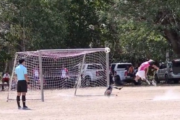 The Worst Penalty Kick In Soccer Doubles Up As A Slap In The Face