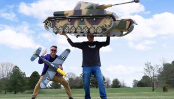 Watch These Guys Build A Miniature Remote Control World War II Tank That Fires Cheese Puffs