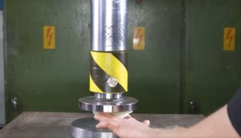 Hydraulic Press Proves You Can Fold Paper More Than Seven Times With The Right Amount Of Power