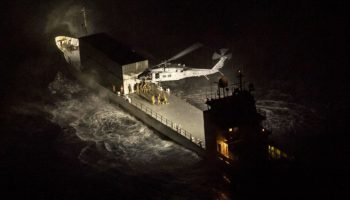 Check Out This Eerie Image Of A Navy Special Ops Seahawk Raiding A Ship In The Dead Of Night