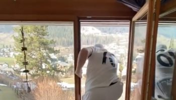 Watch Freestyle Skier Andri Ragettli Do Some Extreme Quarantine Parkour Inside His House