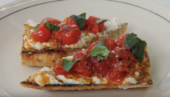 Brad Leone, From Bon Appétit, Makes An Open-Faced Tomato Sandwich