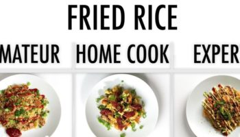 An Amateur, Home Cook And Professional Chef Each Make Their Own Version Of Fried Rice