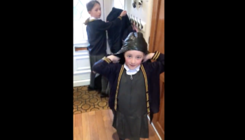 Kids Have Priceless Reaction After Falling For Dad's April Fool's Day School Prank