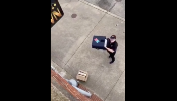 Here's An Innovative Way To Get Pizza Delivered While Respecting Social Distancing
