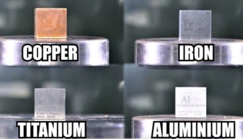 A Hydraulic Press Demonstrates The Strength Of Titanium