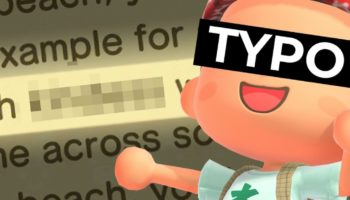 Stickler Goes Through Extreme Lengths To Notify Nintendo Of A Critical Spelling Error In 'Animal Crossing'