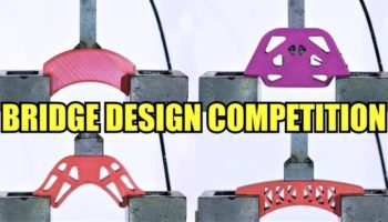 Which 3D Printed Bridge Design Can Handle The Most Force From A Hydraulic Press?