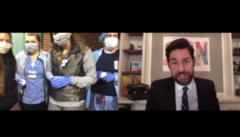 John Krasinski Gives Healthcare Workers A Wholesome Red Sox Surprise To Celebrate Their Hard Work