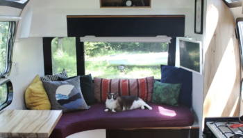A Previously Abandoned Airstream's Transformation Is Beautiful