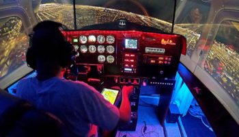 Man Shows Off His Remarkably Realistic Home Built Flight Simulator