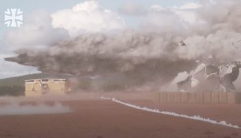 German Military Detonates A Semi Truck Full Of Explosives Next To Test Buildings, Films The Whole Thing In Slow Motion