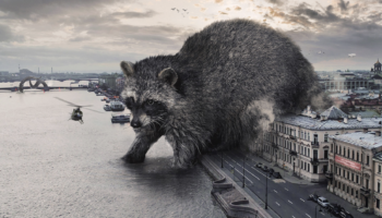 Massive Wild Animals Wander Russian Streets In These Surreal Composites By Vadim Solovyov