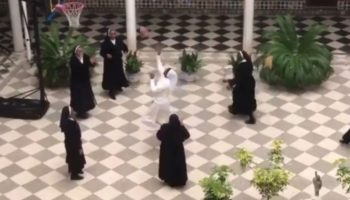 Watch These Catholic Sisters From Spain Play A Game Of Pick-Up Basketball While Stuck In Quarantine