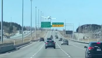 Small Plane Makes An Incredibly Precise Landing In The Middle Of A Busy Highway