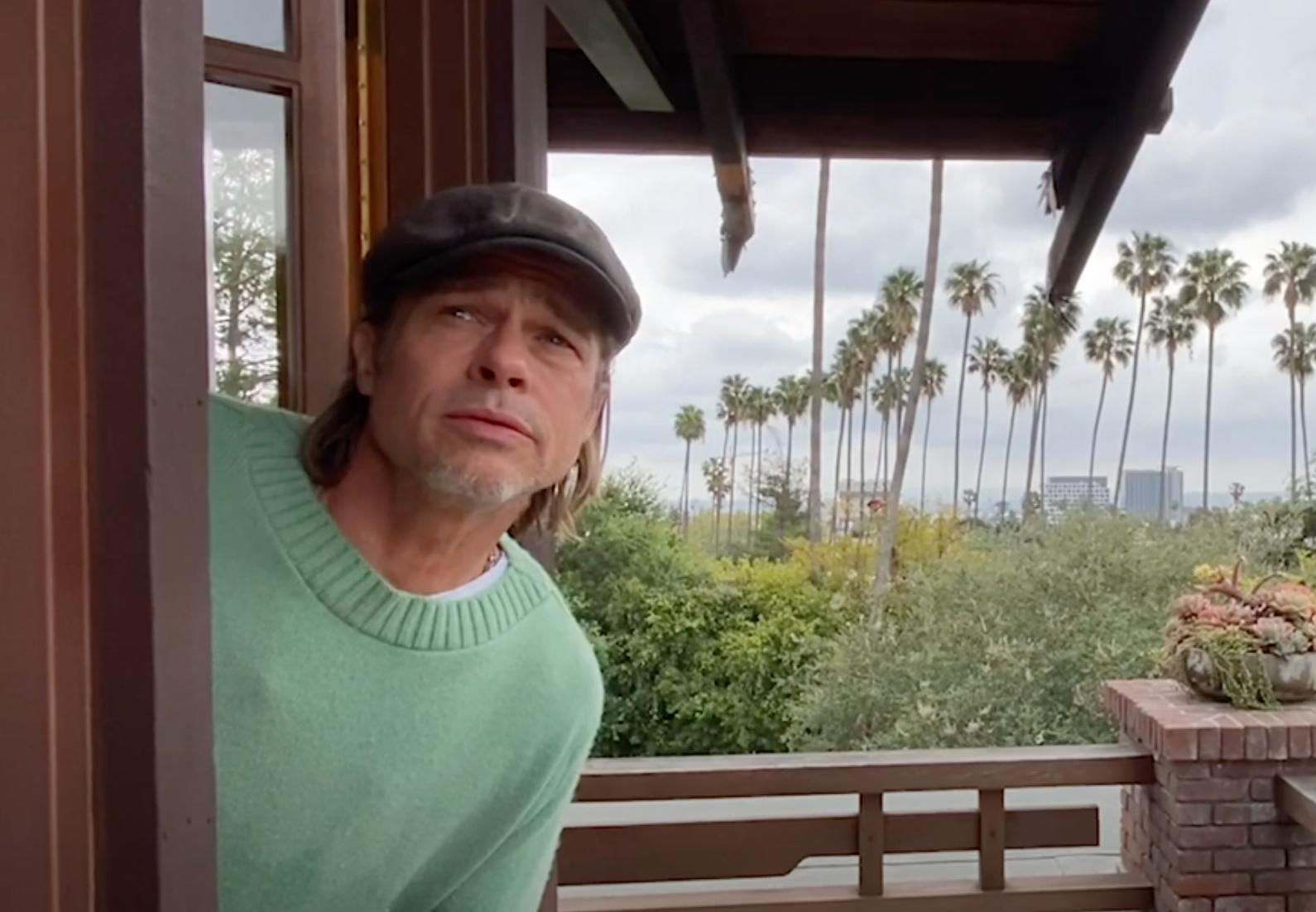 Brad Pitt Has Funny Cameo As Weatherman In John Krasinski's Latest 'Some Good News' Episode