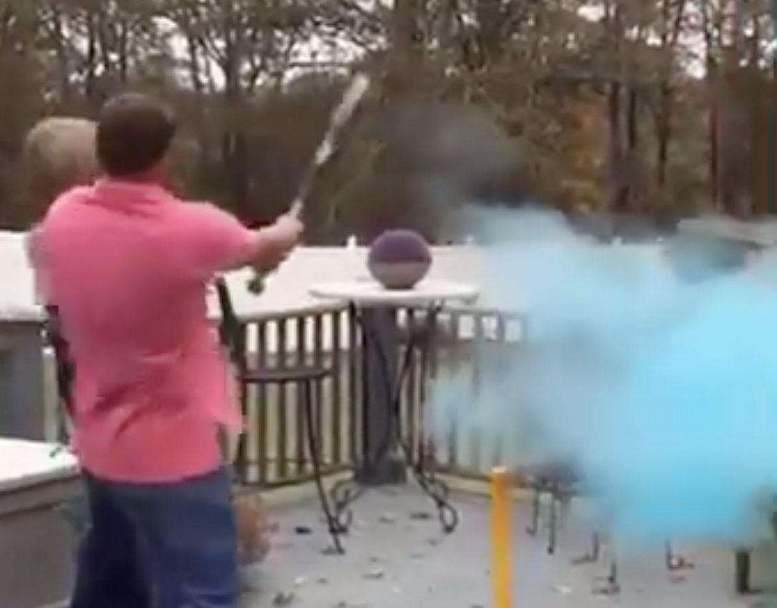 Couple's Gender Reveal With A Baseball Bat Ends In The Most Painful Way Possible