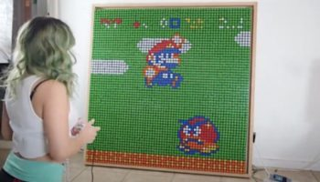This Gamer Made A Stop Motion Tribute To Super Mario Bros. Using 500 Rubik's Cubes
