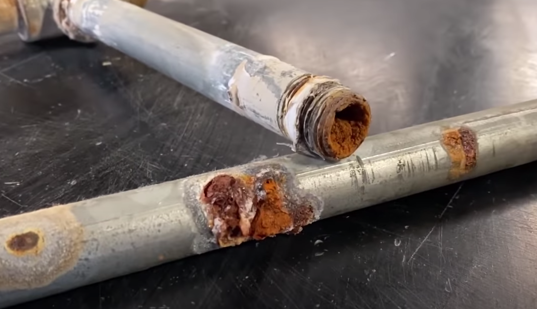 YouTubers Cut Open A Leaking Water Pipe, And Yup, It's Pretty Gross