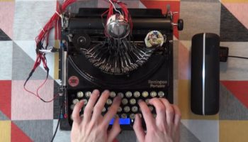 This Guy Took A 1920s Typewriter And Transformed It Into An EDM Drum Machine