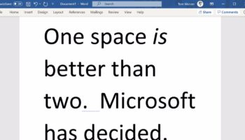Microsoft Word Now Flags Double Spaces As Errors, Ending The Great Space Debate