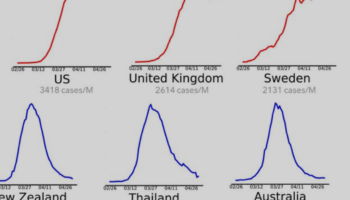 A Stark Visualization Of Different Countries' COVID-19 Case Growth Shows The US, UK And Sweden's Struggles