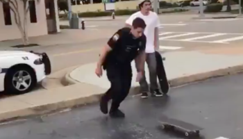 We Were Not Expecting This Cop To Nail A Perfect 360 Flip On A Skateboard