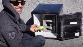 Guy Detonates A Grenade Inside A Safe, Just To See What Happens