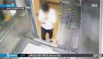 The Horrifying Moment An Elevator Malfunctions And Starts To Ascend When A Man Is Entering It