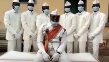 The Ghanaian Pallbearers Lean Into Their Role As Pandemic Grim Reapers