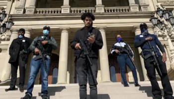 Armed Black Citizens Escort Michigan Lawmaker To Capitol After Volatile Rightwing Protest