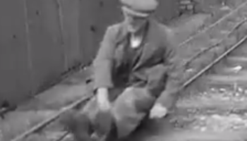 The Fascinating Way Quarry Workers Traveled Home From Work In 1935