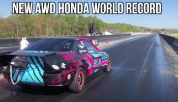Watch A 1,500 HP Honda Civic Hit 0-60 MPH In… 1.1 Seconds