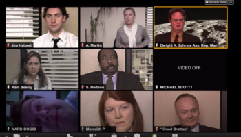 This Is What A Zoom Meeting Would Look Like For 'The Office' Characters