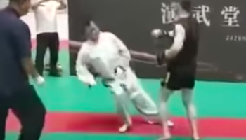 Tai Chi Master Gets Embarrassingly Knocked Out By Amateur Fighter In Fight That Lasts Only 30 Seconds