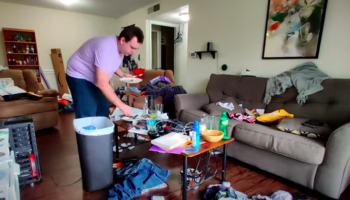 Man Suffering From Depression Cleans His House In Therapeutic Time-Lapse