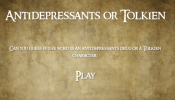 Play This Game To See If You Can Distinguish Between Obscure Tolkien Characters And Antidepressants