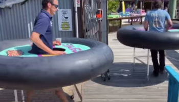 A Bar In Maryland Is Providing 'Bumper Tables' To Keep Patrons A Safe Distance Apart