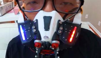 Design Genius Creates Robotic Face Mask That Closes Whenever It Senses People Around