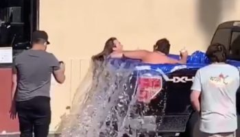 Guys Turn Their Pickup Truck Bed Into A Pool, Instantly Regret It