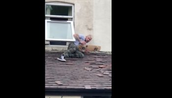 Dude Attempts To Skateboard Off His Roof, Gets Some Instant Karma