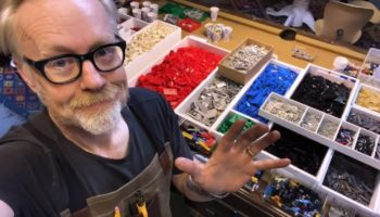 Adam Savage Builds A Sorting And Storage System For His Massive Lego Collection